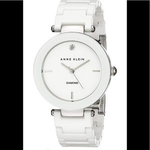 Anne Klein white watch